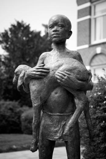 Herdersjongen (2013), brons, Herensingel Weesp, aankoop gemeente Weesp