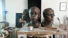 Portretten brons 3 broers